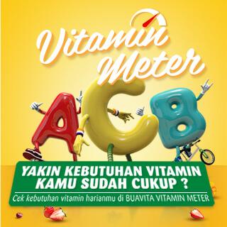 Yakin Kebutuhan Vitamin Kamu Sudah Cukup? Cek kebutuhan vitamin harianmu di BUAVITA VITAMIN METER